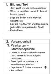 Lernwörter - Märchen