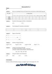 Klassenarbeit Teilbarkeit Klasse 6