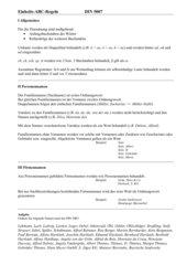DIN 5007 ABC-Regeln (korrigiert, mit Lösung)