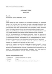Unterrichtsreihe - Morton Rhue: Asphalt Tribe