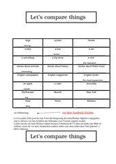 Let's compare -   Übung zum Vergleichen