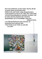 Deutschlandkarte mit Ansichtskarten gestaltet
