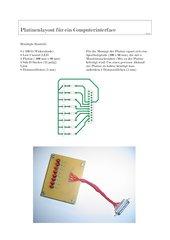 Platinenlayout für die Herstellung eines Computerinterfaces