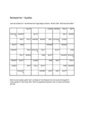 Sudoku- Reimwörter zum Herbst