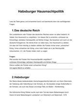 Habsburger Hausmachtpolitik - AB