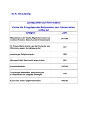 Test Reformationszeit mit dropdown-Feldern