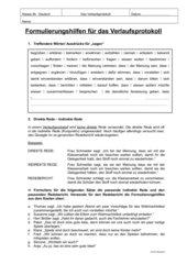 Formulierungshilfen für das Verlaufsprotokoll