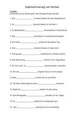 Substantivierung von Verben