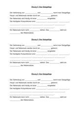 Sprachlehre-Arbeit mit Lernzirkel und Lernstoffübersicht zu Satzglieder, Satzreihe, Satzgefüge und Redewendungen