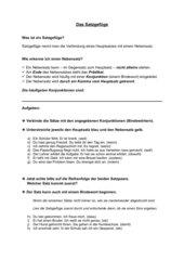 Arbeitsblatt zum Satzgefüge