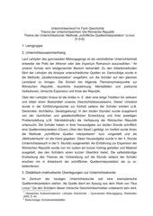 UR-Entwurf: Übung zur schriflichen Quelleninterpretation