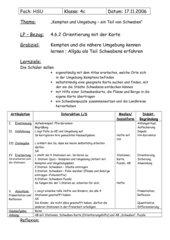 Orientierung mit der Karten - Allgäu/Schwaben - Stationenlauf