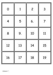Memo-Spiel / Zuordnungsspiel: Numbers 1-100