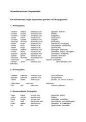 Stammformen der Deponentien