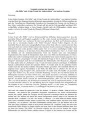 Interpretativer Vergleich zweier Sonette von Gryphius