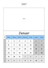 Kalender erstellen (Arbeiten mit Tabellenfunktion)