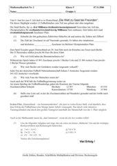 Klassenarbeit Mathematik-Klasse 5