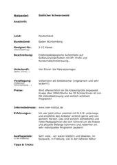 Reiseziel Südschwarzwald/ Vogesen für Klassenfahrten