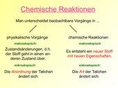 Einführung Chemischer Reaktionen