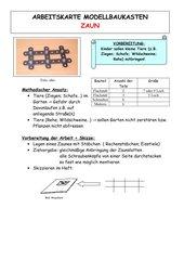 Arbeitskarte Modellbaukasten: Zaun