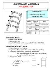 Arbeitskarte Modellbau: Anlegeleiter