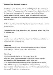 Axolotl - kurzer Informationstext