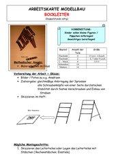 Arbeitskarte Modellbau: Bockleiter