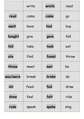 irregular verbs (Simple Past) - Domino