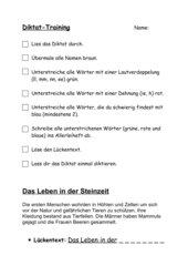 Diktattraining Steinzeit