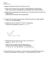 erster Test zu Vektoren (mit Lösung)