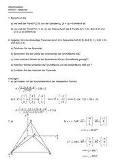Analytische Geometrie (Abschluss: Winkel, Abstände)