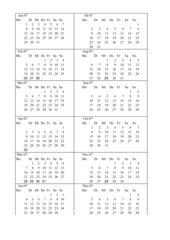 Kalender basteln 2007
