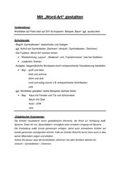 Word-Art (Mircosoft Word) spielend lernen (Kl. 2-7) D / ITG