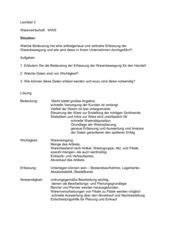 Warenwirtschaft WWS/ Lernfeld 3
