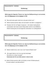 2 Klassenarbeiten Erörterung / Stellungnahme / Argumentation