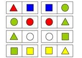 Domino Formen und Farben
