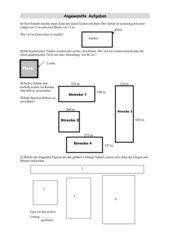 Sachaufgaben: Rechteck und Quadrat