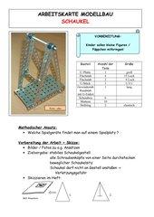 Arbeitskarte Modellbau: Schaukel