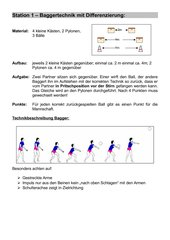 Stationstraining Grundlagentechnik und -taktik