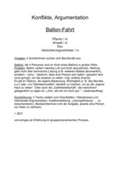 Ballonfahrt - ein gruppendynamisches