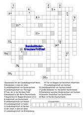 Bundesländer-Kreuzworträtsel