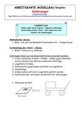 Arbeitskarte Modellbau kreativ: Kinderwagen