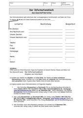 Der Informationsblock beim Geschäftsbrief