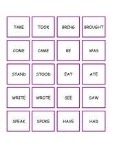 Memo-Spiel / Zuordnungsspiel:  past simple