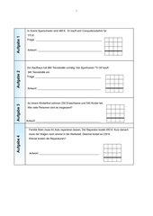 Aufgaben zur Addition und Subtraktion (4. Klasse)
