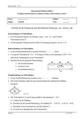 Klassenarbeit Elektrotechnik