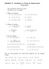 Vereinfachen von Termen mit Quadratwurzeln