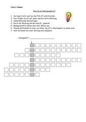 Arbeitsblatt: Kreuzworträtsel zum Thema Werbung