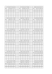 Schriftliche Addition, 4. Klasse