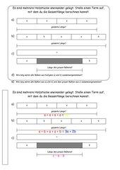 Addition und Subtraktion von Termen